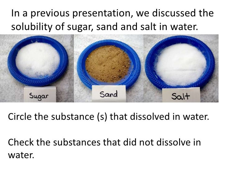 Salt Dissolve In Water Physical Properties