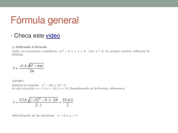 Solución de ecuaciones de segundo grado