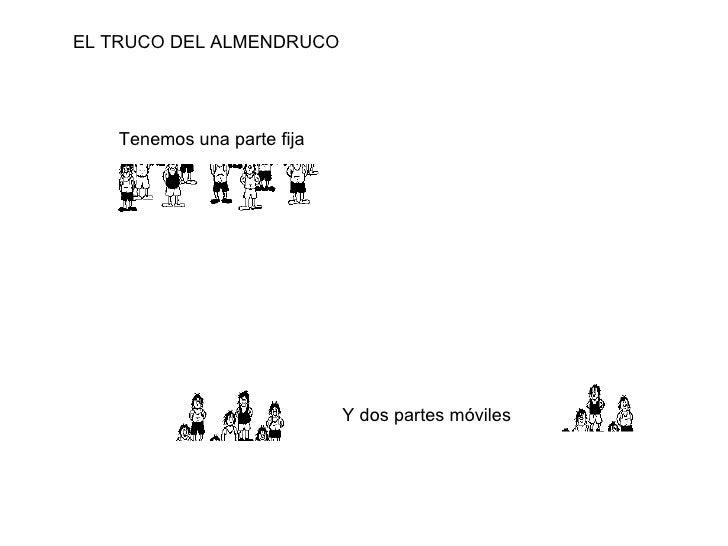 Tenemos una parte fija Y dos partes móviles EL TRUCO DEL ALMENDRUCO