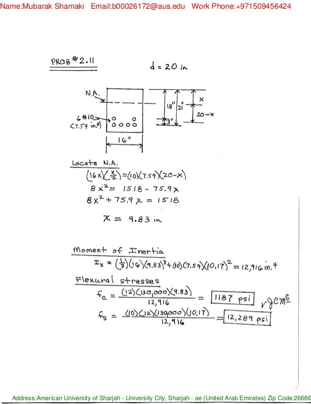 solucionario design of reinforced concrete 8th ed by mccormac brown rh slideshare net Reinforced Concrete Roof Reinforced Concrete Wall