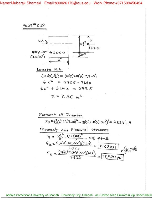 Solucionario design of reinforced concrete, 8th ed by