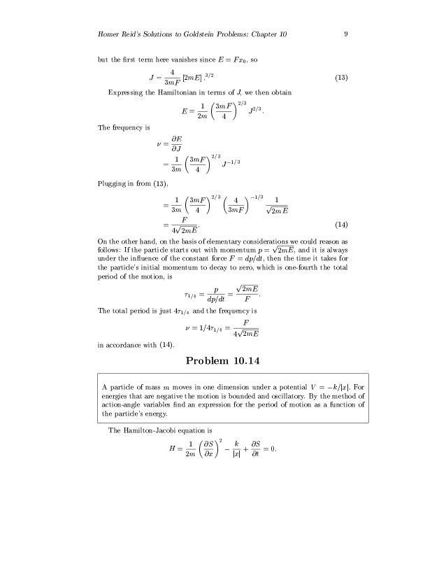 classical mechanics goldstein  pdf