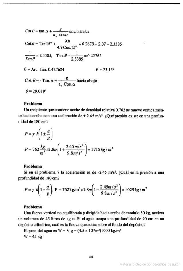 solucionario del libro de hidraulica general de sotelo