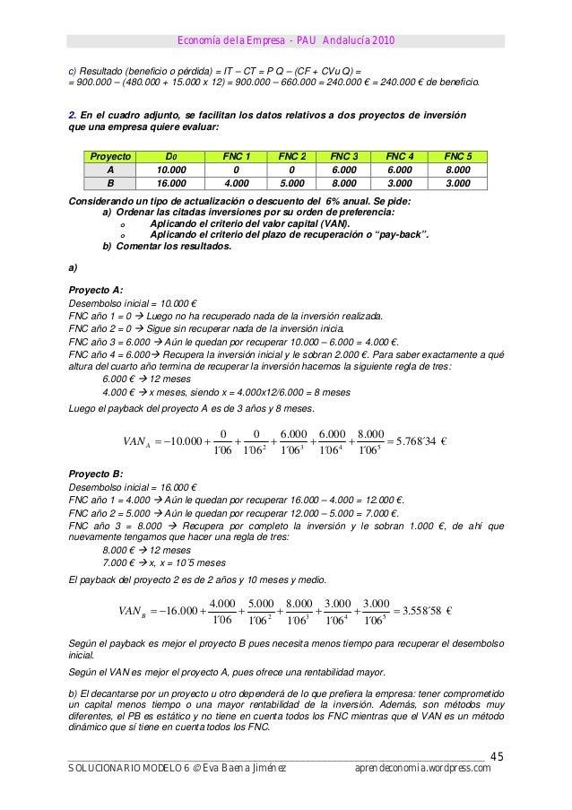 Economía de la Empresa - PAU Andalucía 2010______________________________________________________________________________S...