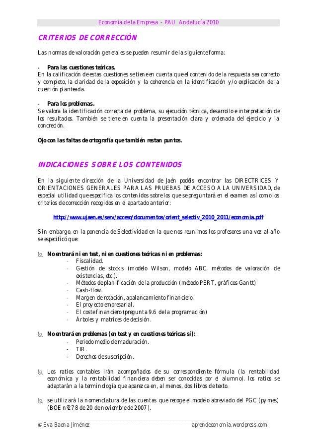 Economía de la Empresa - PAU Andalucía 2010______________________________________________________________________________©...