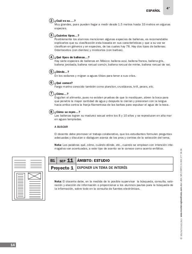 ESPAÑOL 16 4° www.montenegroeditores.com.mxladasincosto018002773636 1 2 ¿La paráfrasis…? Es importante señalar que no se d...