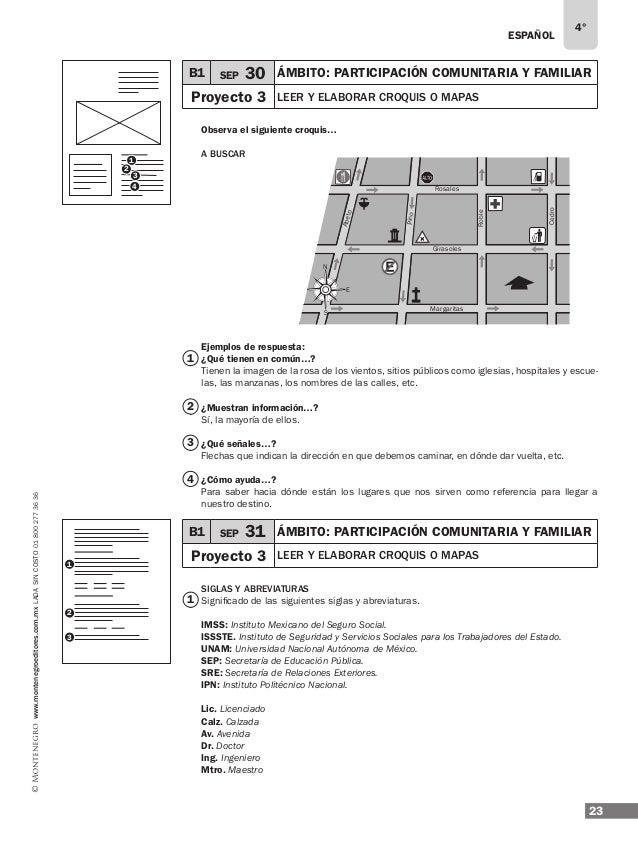 ESPAÑOL 25 4° www.montenegroeditores.com.mxladasincosto018002773636 Evaluación del bloque I Subraya ... Es un ejemplo... d...