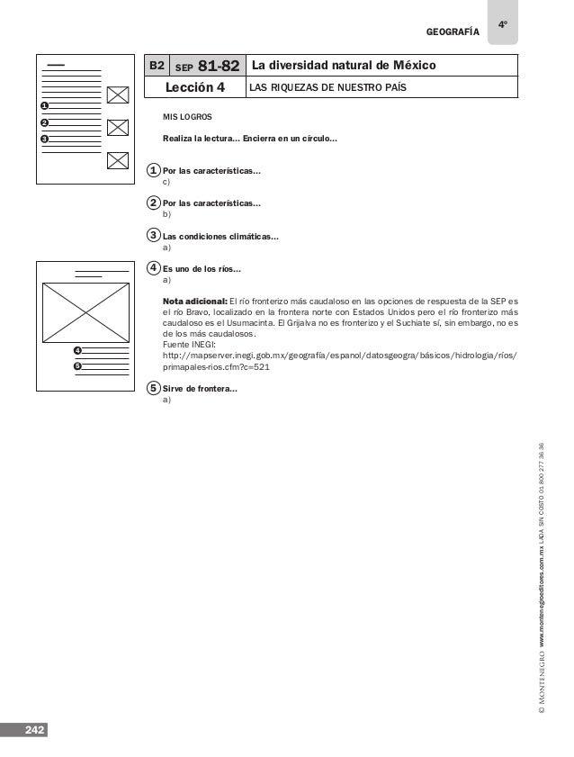 Solucionario 4° Libros de Texto