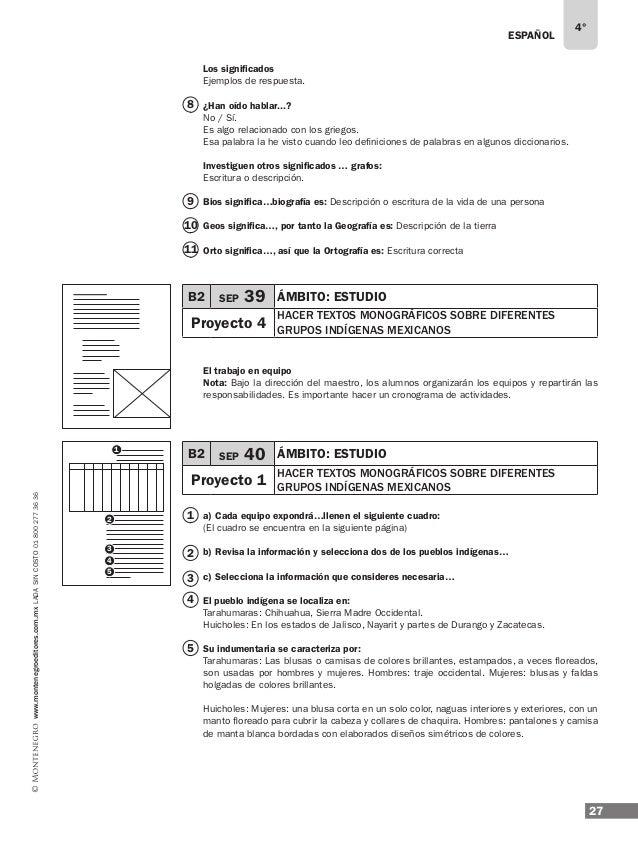 ESPAÑOL 29 4° www.montenegroeditores.com.mxladasincosto018002773636 La economía ... Tarahumaras: Se dedican al cultivo del...