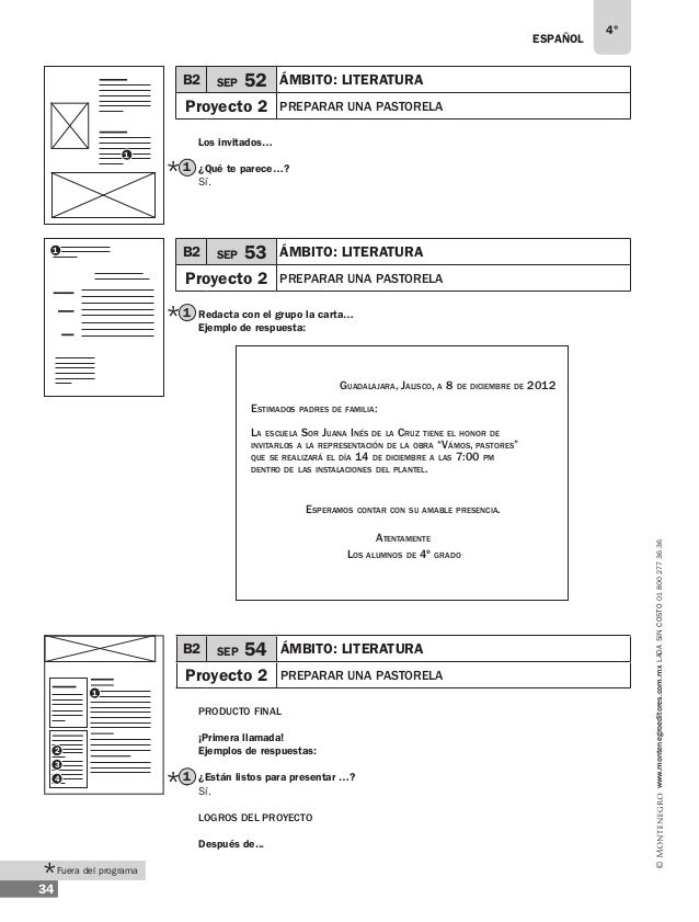 ESPAÑOL 36 4° www.montenegroeditores.com.mxladasincosto018002773636 En equipos... Ejemplos de respuestas: 1 4 6 2 8 5 7 3 ...