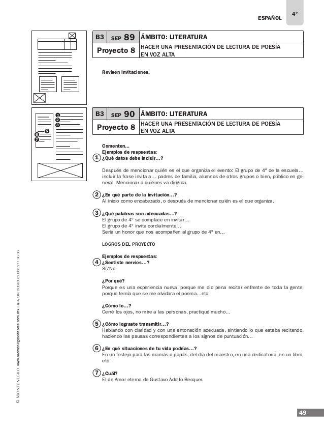 ESPAÑOL 51 4° www.montenegroeditores.com.mxladasincosto018002773636 B3 SEP 94 ÁMBITO: participación comunitaria y familiar...