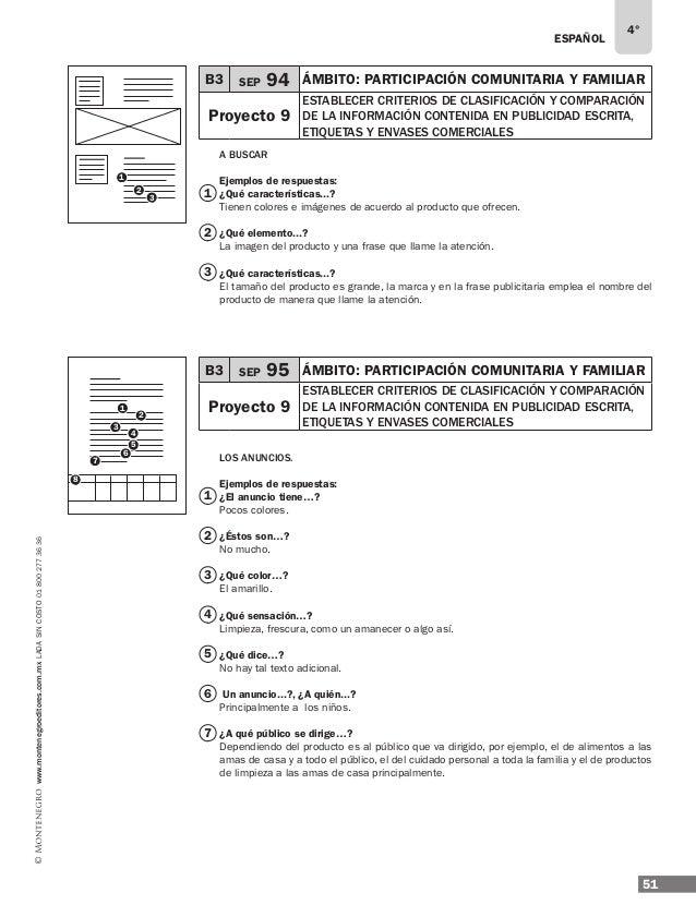 ESPAÑOL 53 4° www.montenegroeditores.com.mxladasincosto018002773636 1 1 4 5 6 9 8 7 ¿Qué precauciones…? El de la ingesta d...