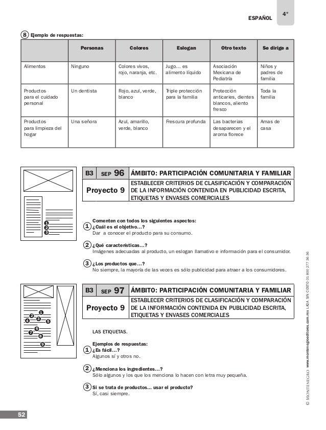 ESPAÑOL 54 4° www.montenegroeditores.com.mxladasincosto018002773636 ¿Cómo uso....? A veces sí la tomo en cuenta, pero la v...