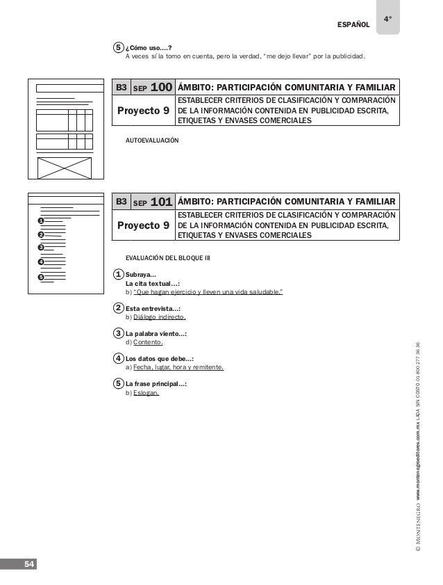 ESPAÑOL 56 4° www.montenegroeditores.com.mxladasincosto018002773636 1 Mi diccionario Revisen el libro de la asignatura… ¿C...
