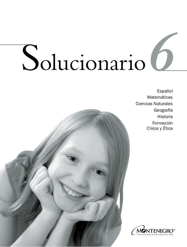 Solucionario 6 GRADO DE PRIMARIA