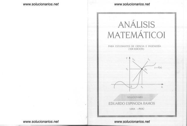 www.solucionarlos.net www.solucionarlos.net www.solucionarlos.net ANALISIS MATEMATICOI PARA ESTUDIANTES DE CIENCIA E INGEN...