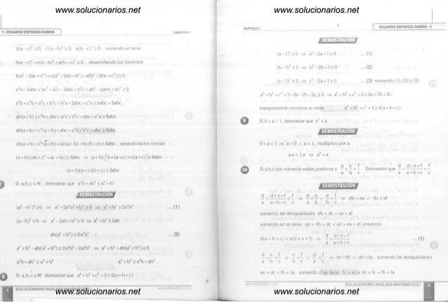 ANALISIS MATEMATICO 1 EDUARDO ESPINOZA RAMOS SOLUCIONARIO PDF