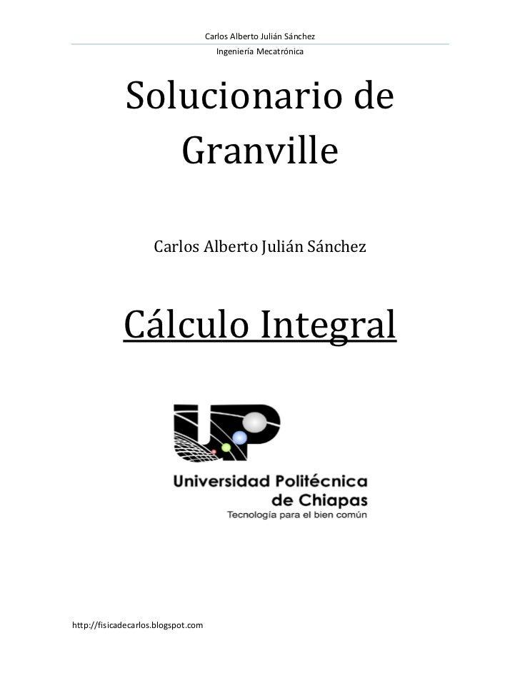 calculo diferencial e integral granville resuelto