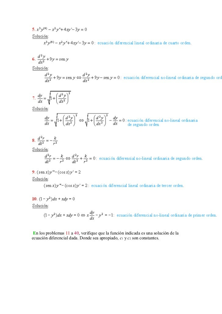solucionario ecuaciones diferenciales dennis zill 9 edicion pdf