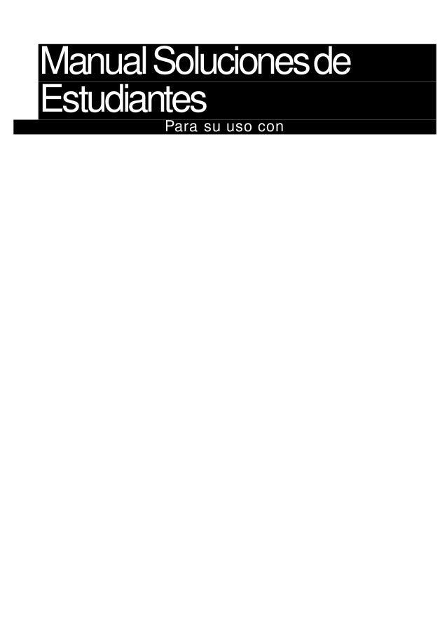 ManualSolucionesde Estudiantes Para su uso con