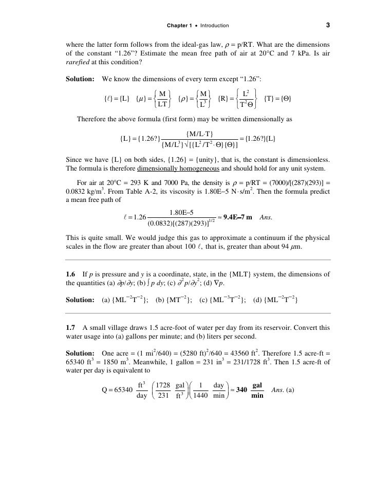 Solucionario de fluidoswhite – Ideal Gas Law Worksheet Answers