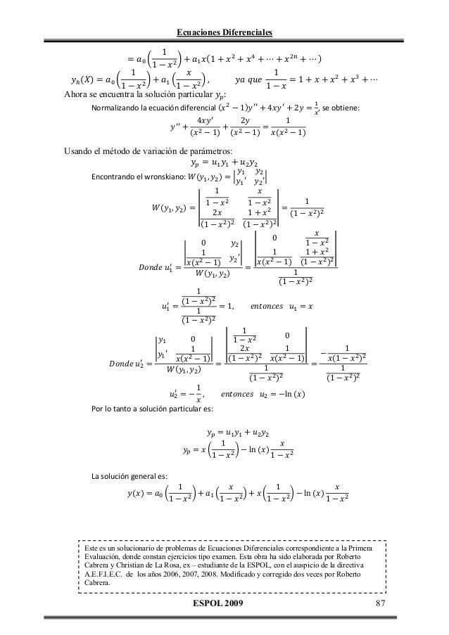 ecuaciones diferenciales essay Phys 10, 113–121, 1838], después de haber leído an essay on the principle of population de thomas malthus su interés en la teoría de las probabilidades comenzó por un juego de lotería, y con el apoyo de adolphe quételet comenzó a aplicarla a las áreas de la economía  la ecuación diferencial logística (o de verhulst), 2011 n bacaër, verhulst and the logistic equation (1838), a short history of mathematical population dynamics, 35-39, 2011 comparte: facebook twitter.
