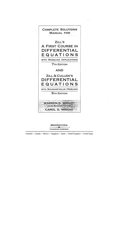 solucionario ecuaciones diferenciales dennis zill 6 edicion gratis