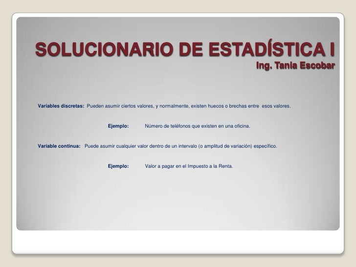SOLUCIONARIO DE ESTADÍSTICA I                                                                                             ...