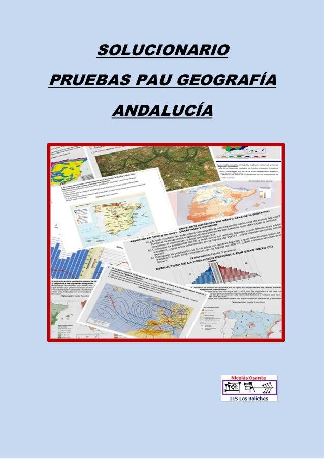 SOLUCIONARIOPRUEBAS PAU GEOGRAFÍA     ANDALUCÍA