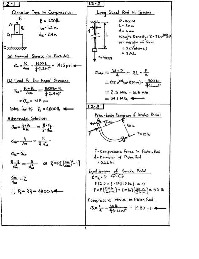 Mechanics of materials gere