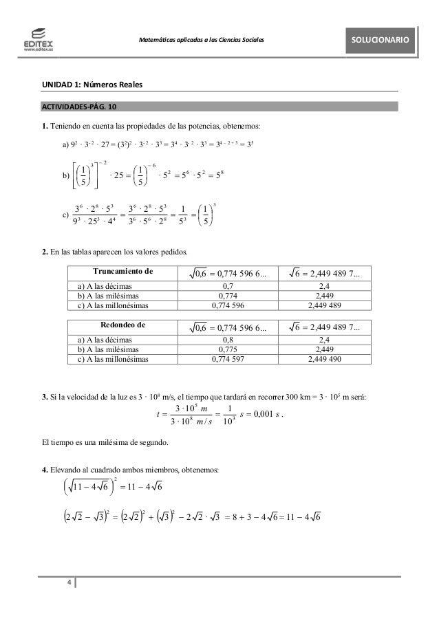 Ejercicios resueltos matematicas
