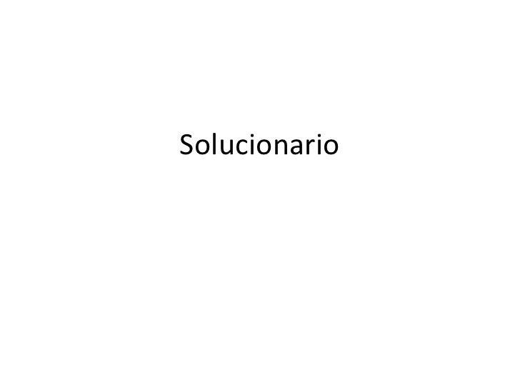 Solucionario<br />