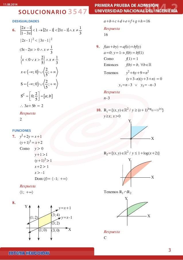 Solucionario UNI- 2014-2 - Matemática Slide 3