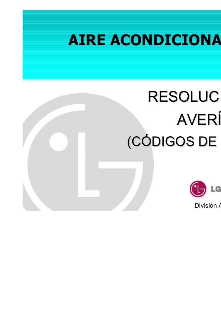 Solucion Averias Lg