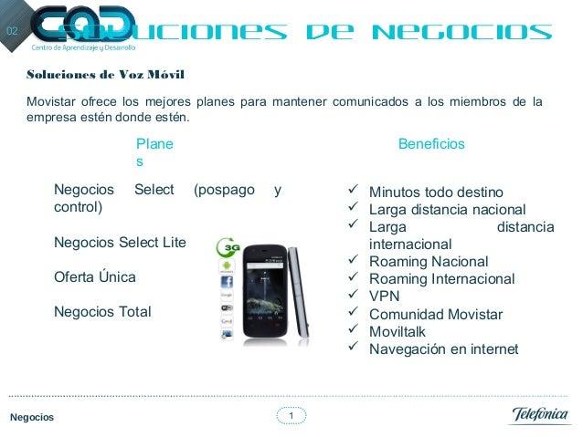 1Negocios02 Soluciones de NegociosSoluciones de Voz MóvilMovistar ofrece los mejores planes para mantener comunicados a lo...