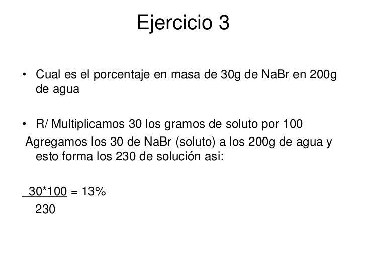 DISOLUCIONES QUIMICAS EJERCICIOS PDF