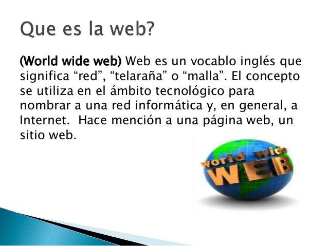 Que es la web for Que es una pagina virtual