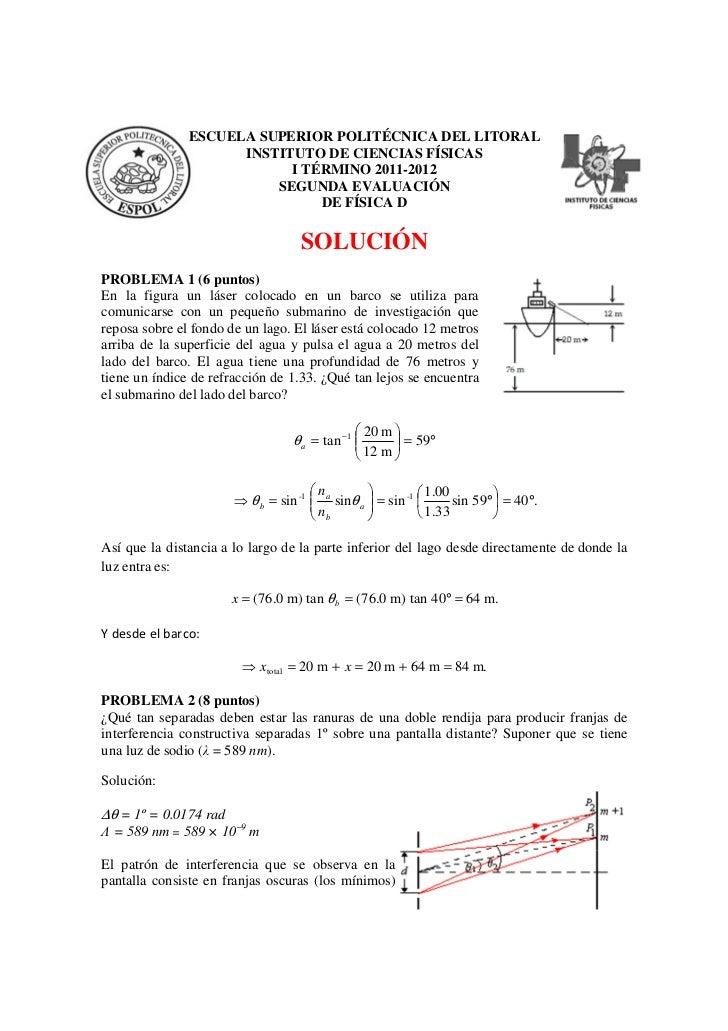 ESCUELA SUPERIOR POLITÉCNICA DEL LITORAL                     INSTITUTO DE CIENCIAS FÍSICAS                           I TÉR...