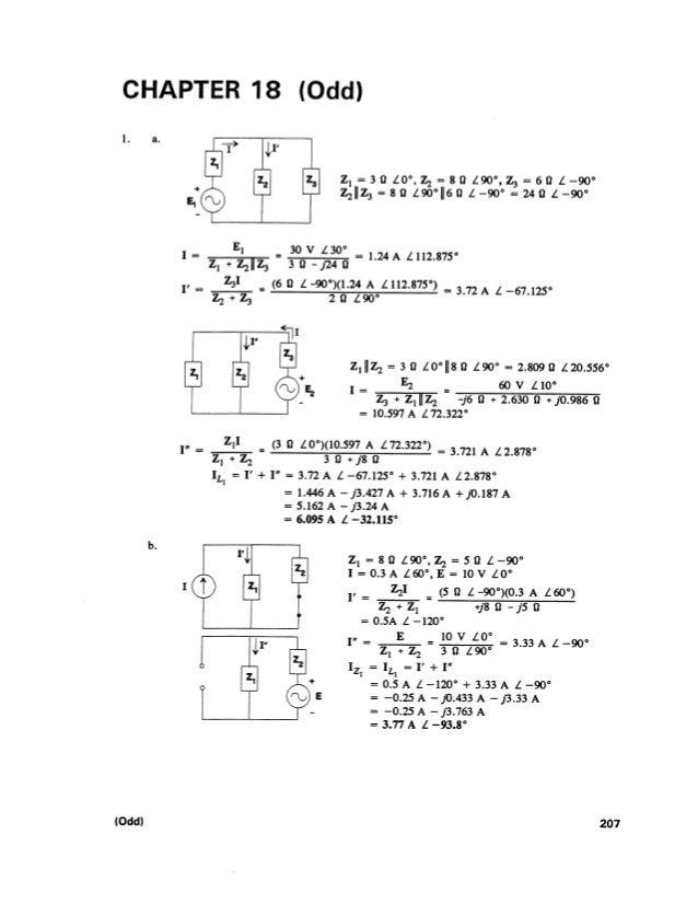 Solucionário   introdução à análise de circuitos - robert l. boylestad - 10ª edição - capítulo 18