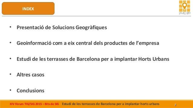 Presentació de Solucions Geogràfiques al Bits de Sig Slide 2