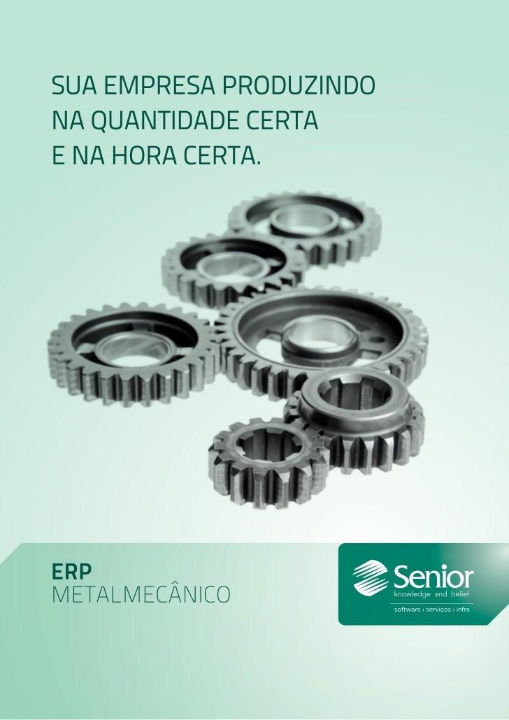 Soluções Senior para o segmento metalmecânico