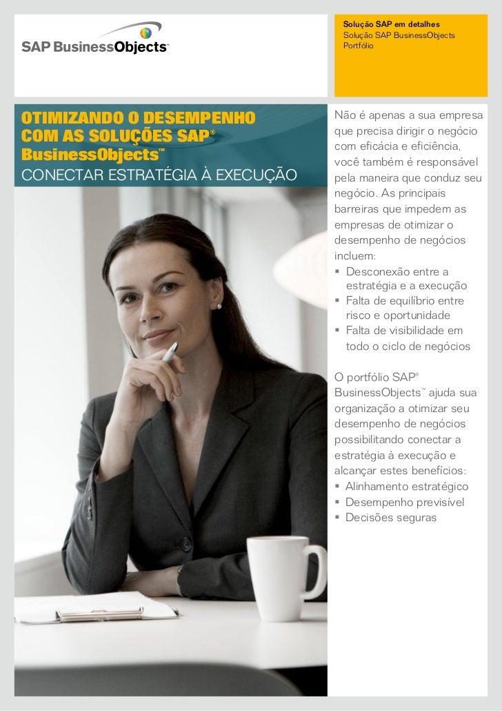 Solução SAP em detalhes                                  Solução SAP BusinessObjects                                  Port...
