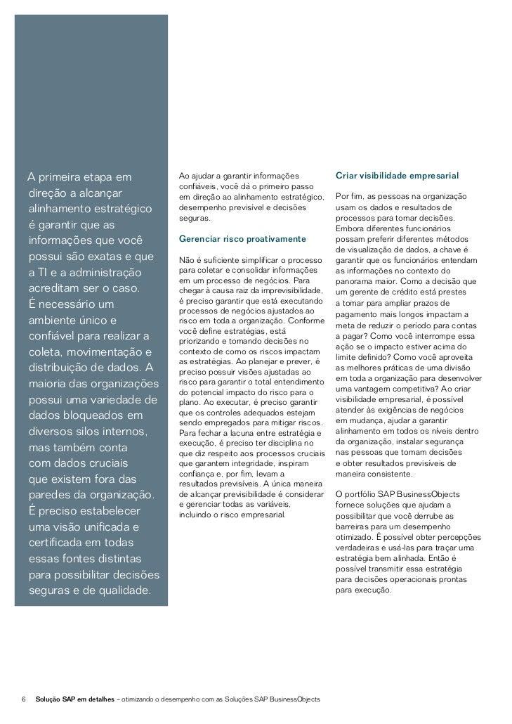 SOLUÇÕES DE INTELIGÊNCIA DE NEGÓCIOS EGERENCIAMENTO DE INFORMAÇÕESUMA ABORDAGEM HOLÍSTICA PARA A INTELIGÊNCIAO portfólio S...