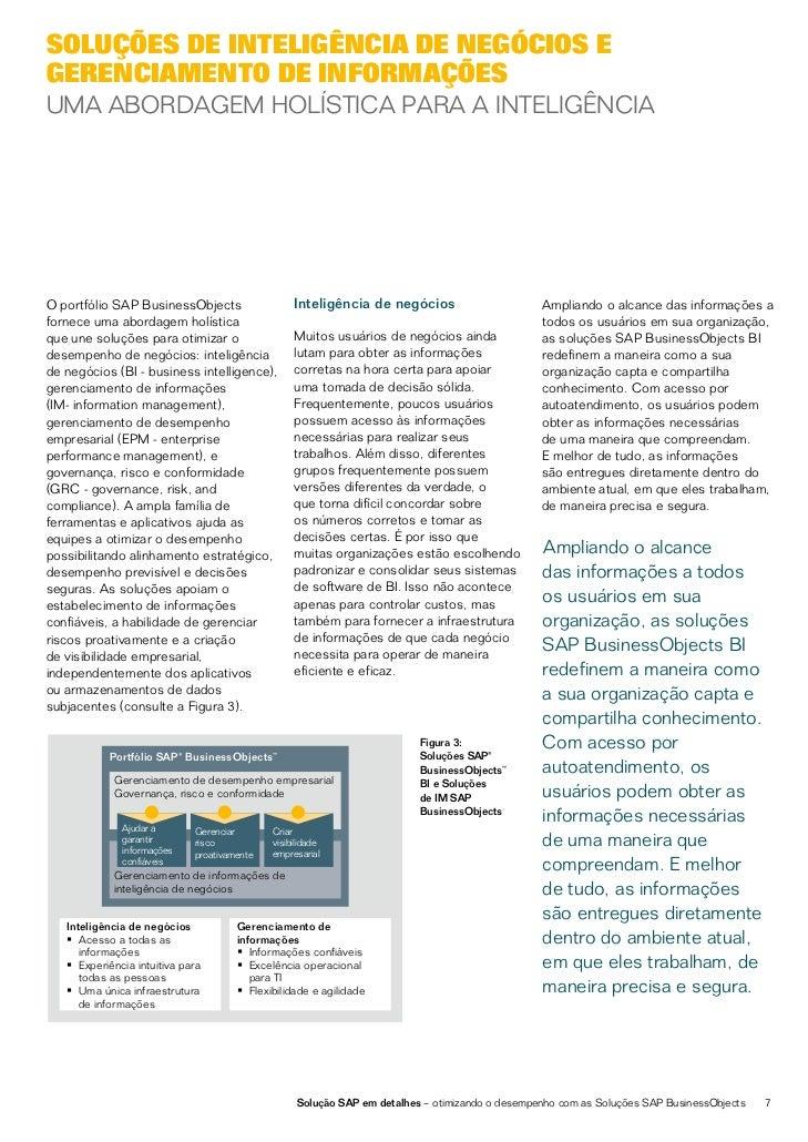 As soluções SAP BusinessObjects BI            Isso possibilita a construção de uma                                        ...