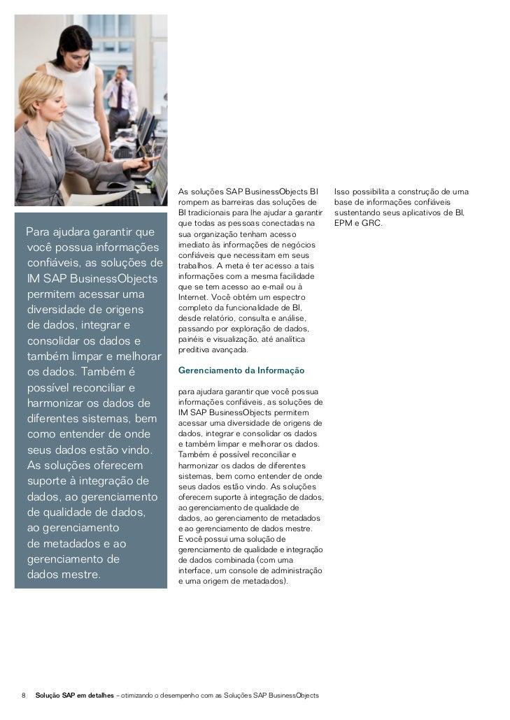 SOLUÇÕES DE EPM E GRCGERENCIANDO CONFORMIDADEDE DESEMPENHOAs soluções SAP BusinessObjects                                 ...