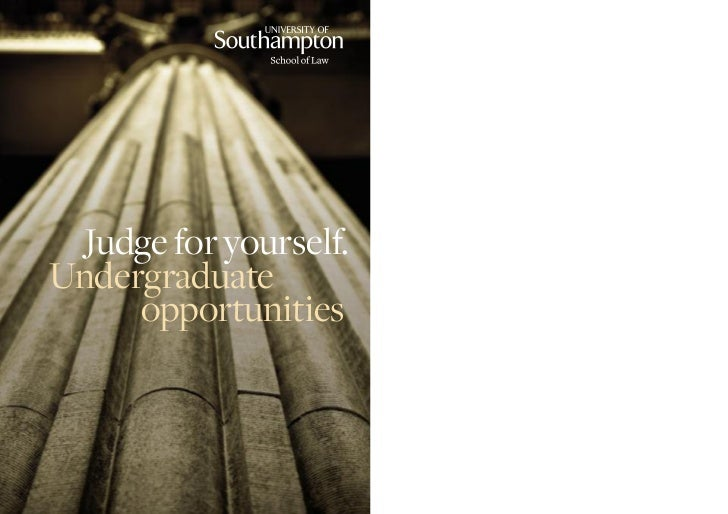 Judge for yourself.Undergraduate     opportunities