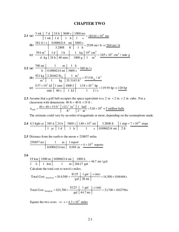 CHAPTER TWO            3 wk     7d        24 h 3600 s 1000 ms2.1 (a)                                    = 18144 × 10 9 ms ...