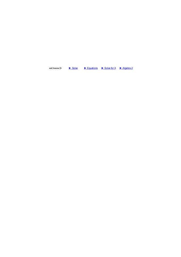 10/4/2014 SOLUÇÃO: Estou tendo problemas com a resolução de equações. A seguir, são equações e seus métodos que parecem nã...