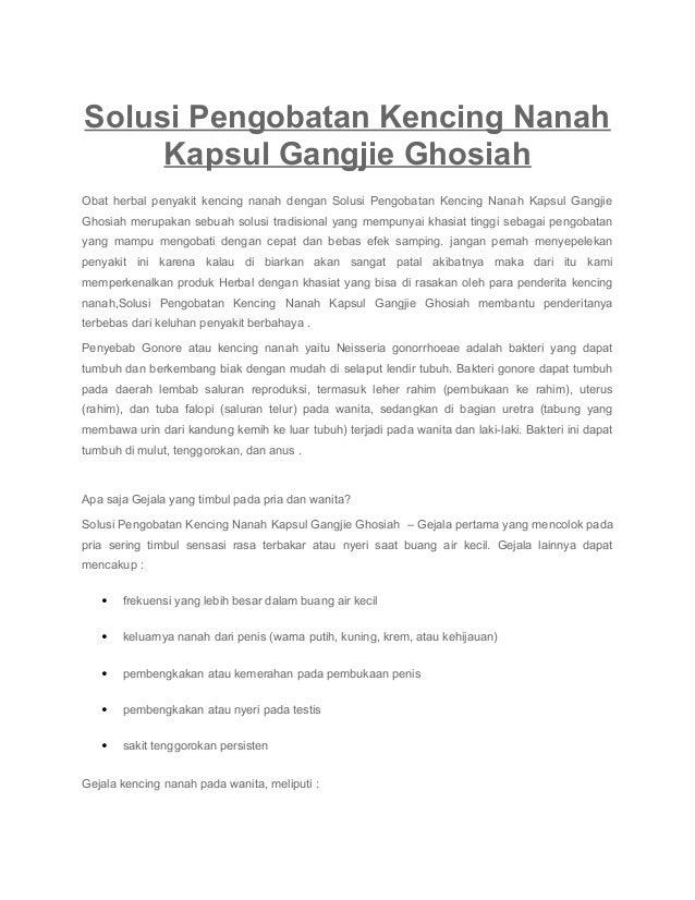 Solusi Pengobatan Kencing Nanah Kapsul Gangjie Ghosiah Obat herbal penyakit kencing nanah dengan Solusi Pengobatan Kencing...