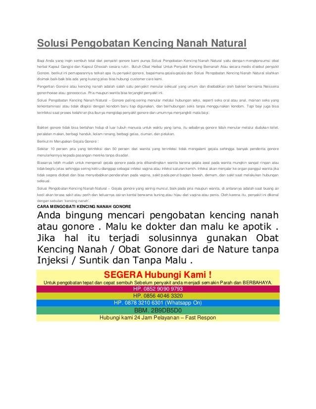 Solusi Pengobatan Kencing Nanah Natural Bagi Anda yang ingin sembuh total dari penyakit gonore kami punya Solusi Pengobata...